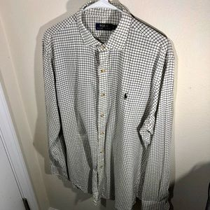 Polo by Ralph Lauren, The Iconic Oxford Shirt, mens size Large, color Cream